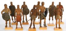 Ben-Hur (13) miniatures and (1) warship bowsprit.