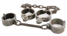 Spartacus (2) slave shackles from stuntman Thane Cornell.