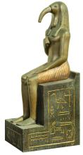 Cleopatra set piece with seated figure with Ibis head.