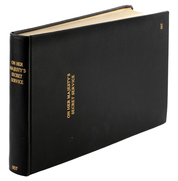 On Her Majesty's Secret Service book bound cutting continuity script signed by George Lazenby and wr