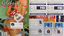 The X-Files collection of FBI identification cards, Celebrity Skin magazine, Morley cigarettes & more.