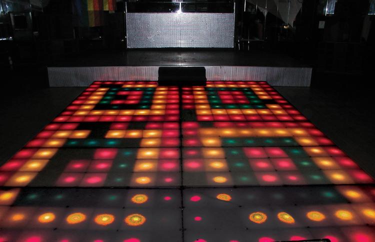 Legendary Illuminating Dance Floor From Saturday Night Fever.