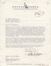 Gene Roddenberry signed early pre-Star Trek document.