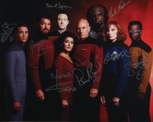 Star Trek: The Next Generation oversized cast signed photograph.