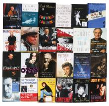 KLOS Radio producer Ted Lekas' collection of (80+) celebrity signed books.