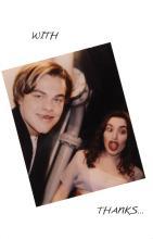 Leonardo DiCaprio and Kate Winslet signed Titanic wrap
