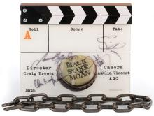 Black Snake Moan clapperboard signed by cast with chain from Allan Apone.