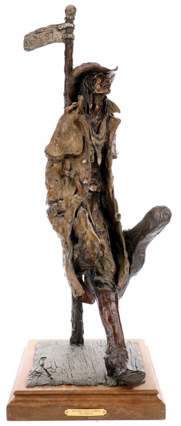 Burt Reynolds owned sculpture by Gib Singleton.