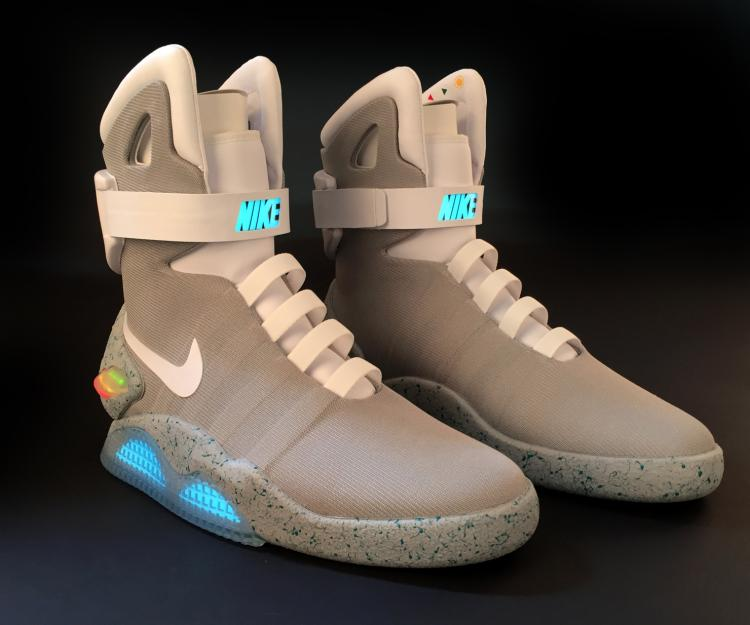 bb67b785c237 Back to the Future II Nike Mags self-lacing shoes  72 89 size