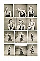 Collection of (74) vintage contact prints of Marilyn Monroe by Richard Avedon for Life.