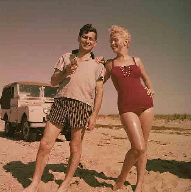 (11) vintage color camera transparencies of Marilyn Monroe with Arthur Miller by Sam Shaw.