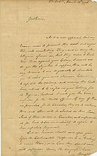 Hancock, John. Important letter signed as President of the Continental Congress.