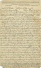 Hardin, John Wesley. Autograph letter signed twice (