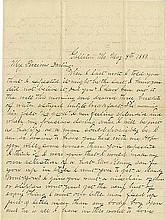 James, Frank. Autograph letter signed (