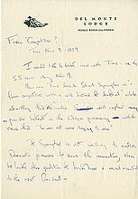 Onassis, Jacqueline Kennedy. Autograph letter, unsigned.