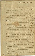 Jefferson, Thomas. Letter signed (