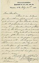 Beauregard, Pierre Gustave Toutant de. Autograph letter signed (