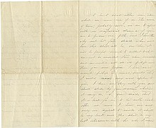Custer, George Armstrong. Autograph letter signed (