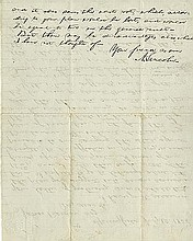 Lincoln, Abraham. Autograph letter signed (