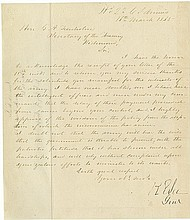 Lee, Robert E. Letter signed (