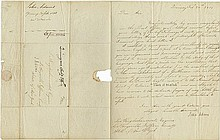 Adams, John. Letter signed