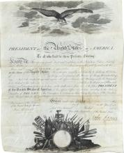 Adams, John.  Document signed as President, 4 March 1799.