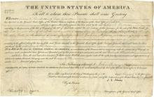 Adams, John Quincy.  Document signed as President, 1 August 1827.