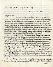 Adams, John Quincy.  Extraordinary autograph letter signed, 6 December 1830.