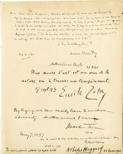 [Authors].  Zola / Twain / Kipling / Haggard / Besant / Doyle signed quotations.