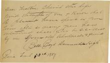 Boyd, Belle.  Extremely   rare autograph letter signed.
