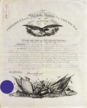 Cleveland, Grover.  Document signed as President, 9 May 1894.