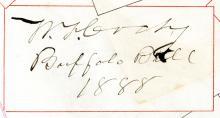 """Cody, William F. (""""Buffalo Bill"""").  Autograph album."""