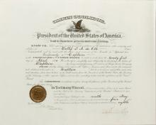 Coolidge, Calvin.  Document signed as President, 9 May 1924.