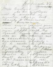 Custer, George A.  Autograph letter signed.