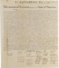 [Declaration of Independence].  Peter Force engraving.