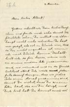 Einstein, Albert.  Autograph letter signed, ca. 1915.