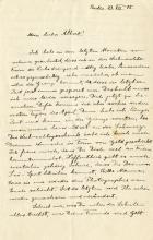 Einstein, Albert.  Autograph letter signed, 23 December 1915.