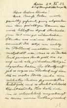 Einstein, Albert.  Autograph letter signed, 24 November 1923.