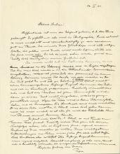 Einstein, Albert.   Autograph letter signed, 17 June 1924.