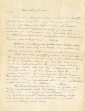 Einstein, Albert.   Autograph letter signed, ca. 1933.