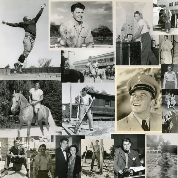 Reagan, Ronald. Remarkable archive. Over 350 candid photographs (majority unpublished),128 letters.