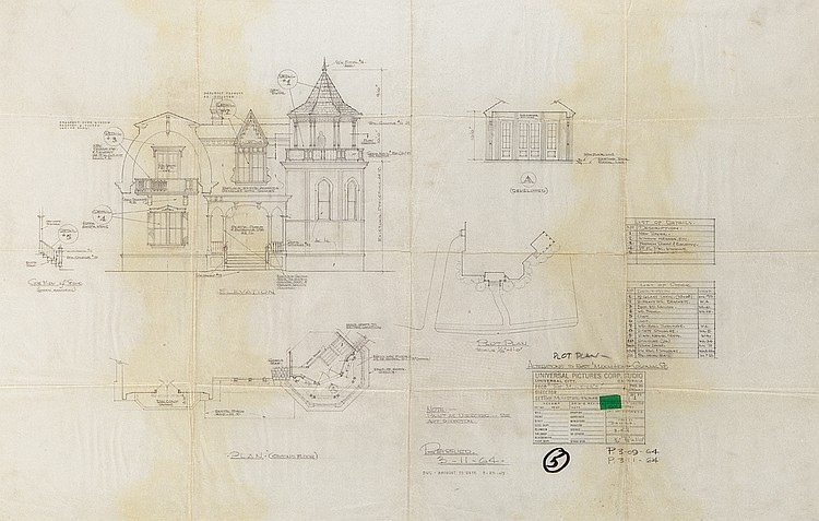 Mansion Elevation For The Munsters And Floor Plan From Munst