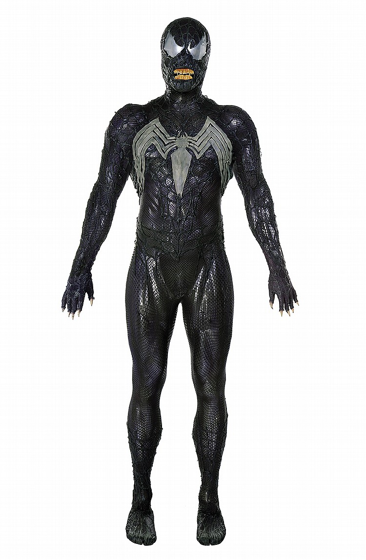 "Sold Price: Topher Grace ""Venom"" symbiote costume with ..."