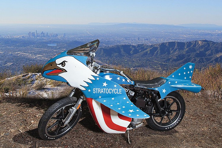 "Evel Knievel Screen Used XLCH 1000 Eagle ""Stratocycle"" From"