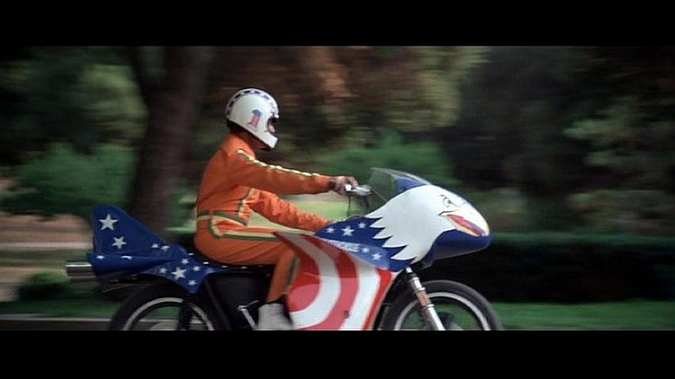"""Harley Davidson Xl1000 Used Evel Knievel Viva Motorbike: Evel Knievel Screen Used XLCH 1000 Eagle """"Stratocycle"""" From"""