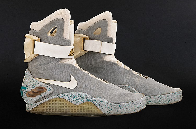 """Marty McFly"" 2015 Nike ""Mags"" self-lacing shoes from Back to the Future II."