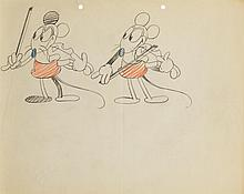 Original Ub Iwerks production model drawing from Fiddlesticks.