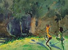 Original concept painting for The Dance Of The Weeds.