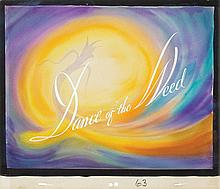 Original opening title cel and original background from The Dance Of The Weeds.
