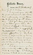 Clemens, Samuel Langhorne. Autograph letter signed (